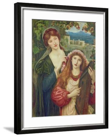 The Childhood of Saint Cecily-Marie Spartali Stillman-Framed Giclee Print