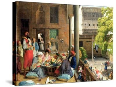 The Midday Meal, Cairo, 1875-John Frederick Lewis-Stretched Canvas Print