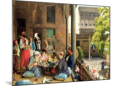 The Midday Meal, Cairo, 1875-John Frederick Lewis-Mounted Giclee Print