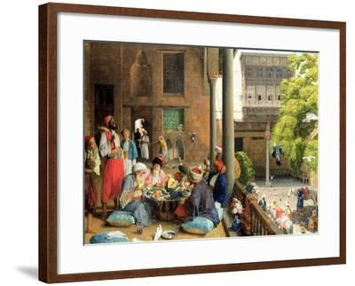 The Midday Meal, Cairo, 1875-John Frederick Lewis-Framed Giclee Print
