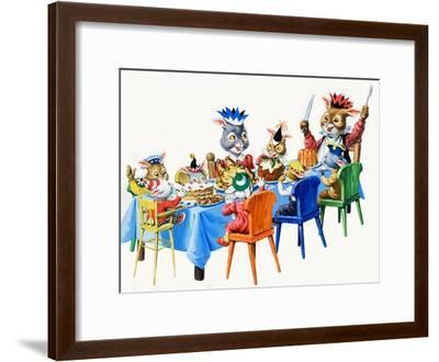 Brer Rabbit's Christmas Meal-Virginio Livraghi-Framed Giclee Print
