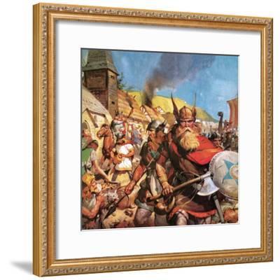 The Vikings: the Sea-Warriors-English School-Framed Giclee Print