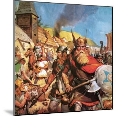 The Vikings: the Sea-Warriors-English School-Mounted Giclee Print
