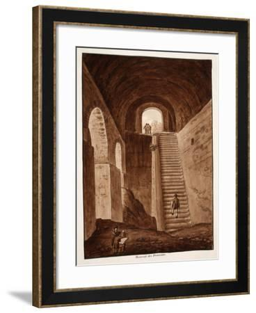 The Praetorian Reservoir, 1833-Agostino Tofanelli-Framed Giclee Print