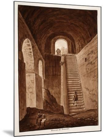 The Praetorian Reservoir, 1833-Agostino Tofanelli-Mounted Giclee Print