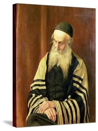 An Ashkenazi Rabbi of Jerusalem-George Sherwood Hunter-Stretched Canvas Print
