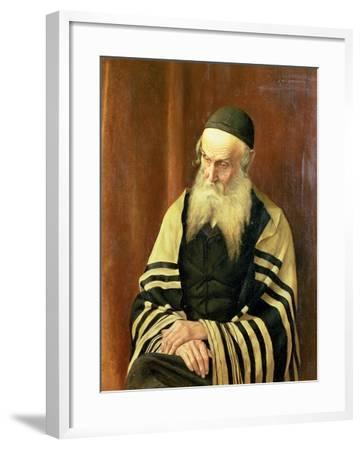An Ashkenazi Rabbi of Jerusalem-George Sherwood Hunter-Framed Giclee Print