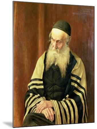 An Ashkenazi Rabbi of Jerusalem-George Sherwood Hunter-Mounted Giclee Print