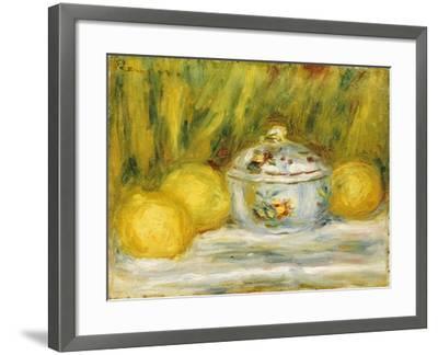 Sugar Bowl and Lemons, 1915-Pierre-Auguste Renoir-Framed Giclee Print