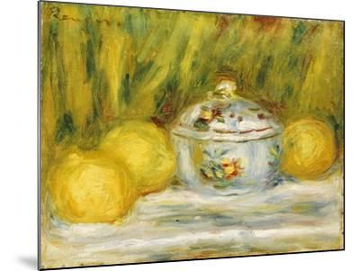 Sugar Bowl and Lemons, 1915-Pierre-Auguste Renoir-Mounted Giclee Print