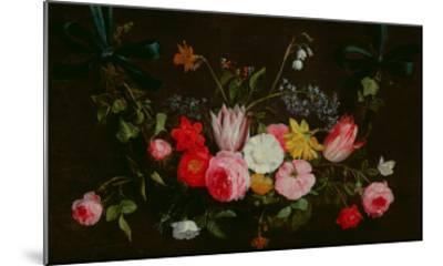 Tulips, Peonies and Butterflies-Jan Van, The Elder Kessel-Mounted Giclee Print