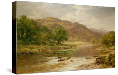 The River Llugwy, Bettws-Y-Coed-Benjamin William Leader-Stretched Canvas Print