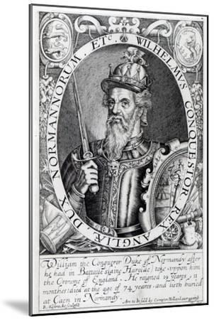 William the Conqueror, 1618-Renold Elstrack-Mounted Giclee Print