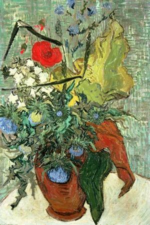 Bouquet of Wild Flowers-Vincent van Gogh-Stretched Canvas Print
