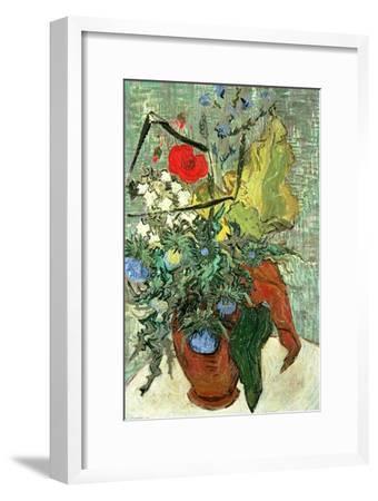 Bouquet of Wild Flowers-Vincent van Gogh-Framed Premium Giclee Print