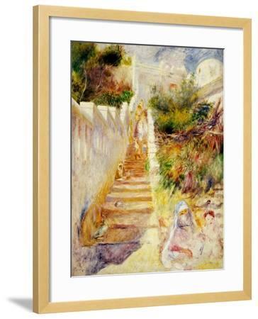 The Steps, Algiers, C.1882-Pierre-Auguste Renoir-Framed Giclee Print