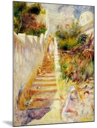 The Steps, Algiers, C.1882-Pierre-Auguste Renoir-Mounted Giclee Print