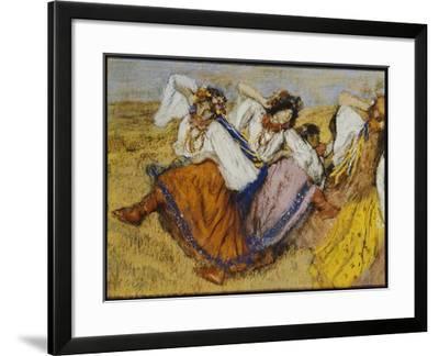 Russian Dancers, C.1895-Edgar Degas-Framed Giclee Print