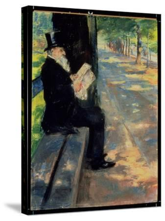 Gentleman in a Zoo, C.1900-Lesser Ury-Stretched Canvas Print