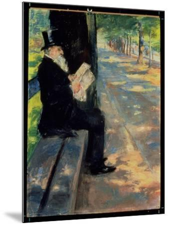 Gentleman in a Zoo, C.1900-Lesser Ury-Mounted Giclee Print