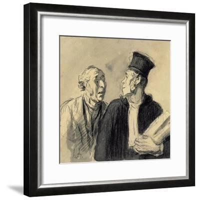 The Lawyer and His Client-Honore Daumier-Framed Giclee Print