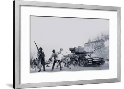 Hungarian Uprising of 1956-Graham Coton-Framed Giclee Print