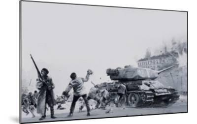 Hungarian Uprising of 1956-Graham Coton-Mounted Giclee Print
