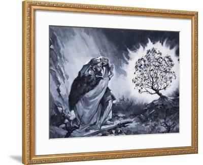 Moses and the Burning Bush-McConnell-Framed Giclee Print
