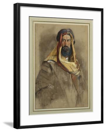 Study of an Arab Sheikh-John Frederick Lewis-Framed Giclee Print