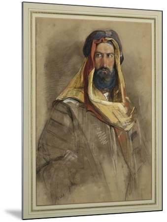 Study of an Arab Sheikh-John Frederick Lewis-Mounted Giclee Print