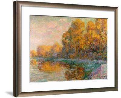 A River in Autumn, 1909-Gustave Loiseau-Framed Giclee Print