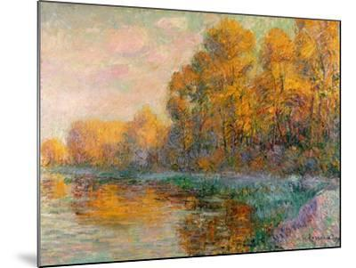 A River in Autumn, 1909-Gustave Loiseau-Mounted Giclee Print
