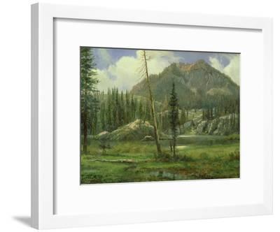 Sierra Nevada Mountains-Albert Bierstadt-Framed Giclee Print