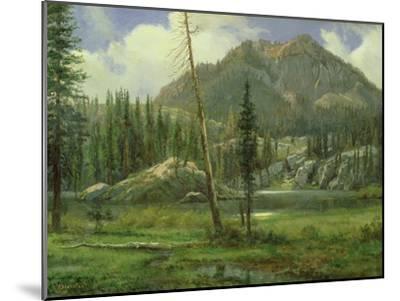 Sierra Nevada Mountains-Albert Bierstadt-Mounted Giclee Print