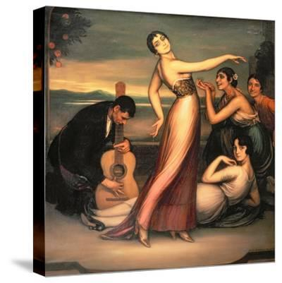 An Allegory of Happiness-Julio Romero de Torres-Stretched Canvas Print