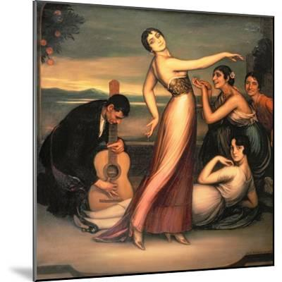 An Allegory of Happiness-Julio Romero de Torres-Mounted Giclee Print