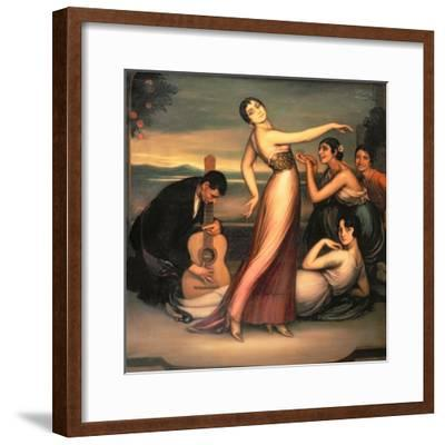 An Allegory of Happiness-Julio Romero de Torres-Framed Giclee Print