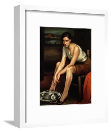 The Alluring Young Girl-Julio Romero de Torres-Framed Premium Giclee Print