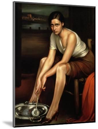 The Alluring Young Girl-Julio Romero de Torres-Mounted Premium Giclee Print