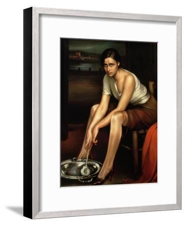 The Alluring Young Girl-Julio Romero de Torres-Framed Giclee Print