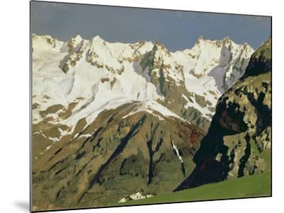 Mont Blanc Mountains, 1897-Isaak Ilyich Levitan-Mounted Giclee Print