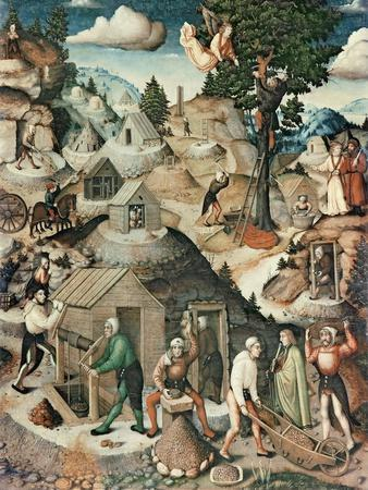 Mining Landscape, 1521-Hans Hesse-Stretched Canvas Print