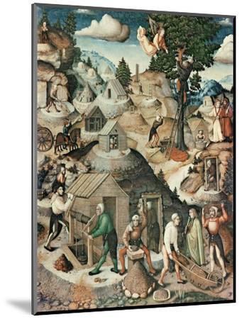 Mining Landscape, 1521-Hans Hesse-Mounted Premium Giclee Print
