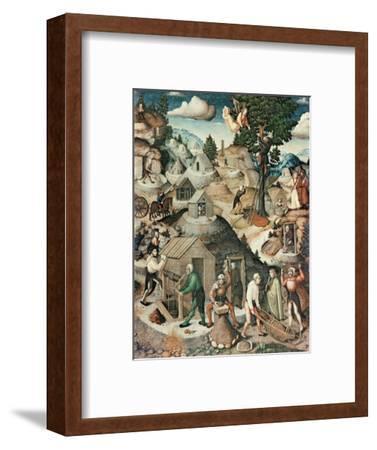 Mining Landscape, 1521-Hans Hesse-Framed Premium Giclee Print