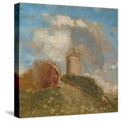 The Windmill, C.1880-Odilon Redon-Stretched Canvas Print