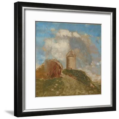 The Windmill, C.1880-Odilon Redon-Framed Giclee Print