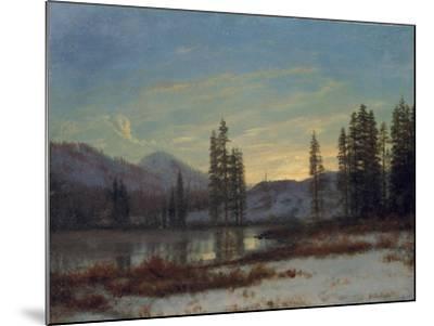 Snow in the Rockies-Albert Bierstadt-Mounted Giclee Print