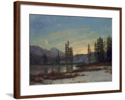 Snow in the Rockies-Albert Bierstadt-Framed Giclee Print