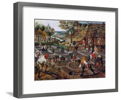 Gardening, C.1637-38-Pieter Brueghel the Younger-Framed Giclee Print
