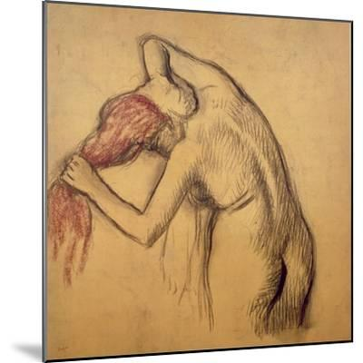 Woman Drying Herself-Edgar Degas-Mounted Giclee Print